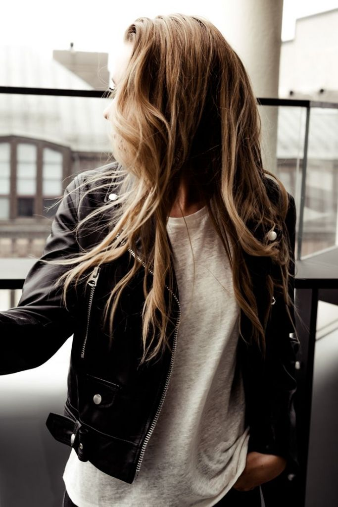#fall #fashion / leather biker jacket