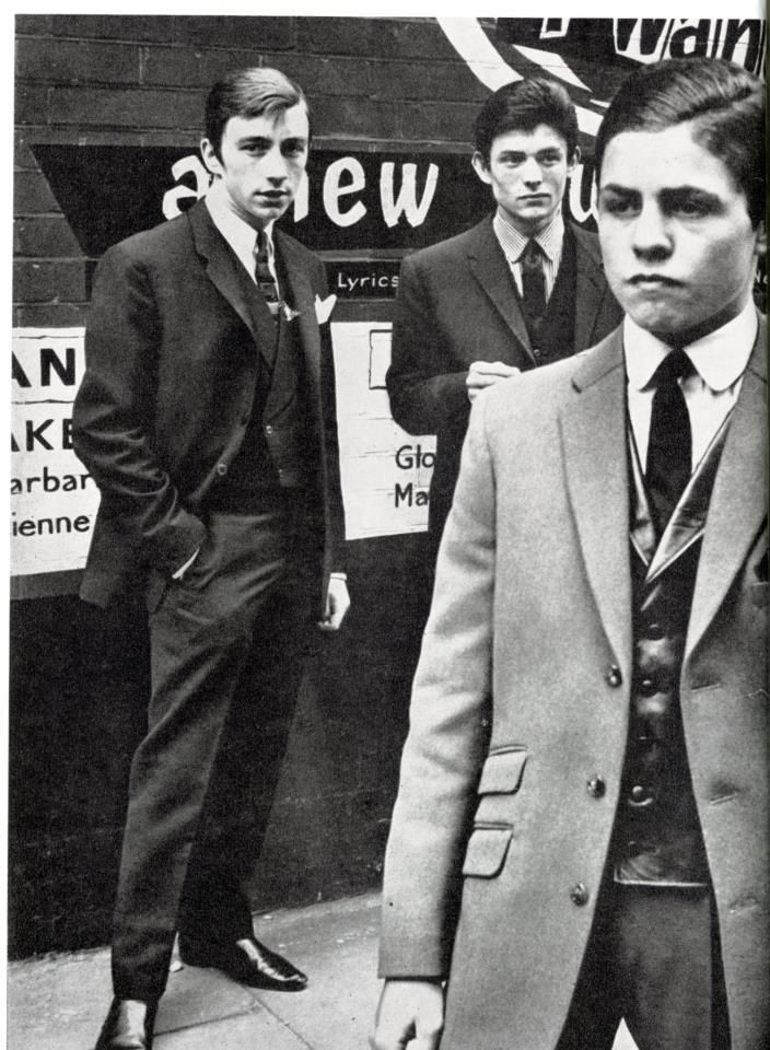 London mods, 1962. Right foreground is one Mark Feld, later to become known as Marc Bolan.