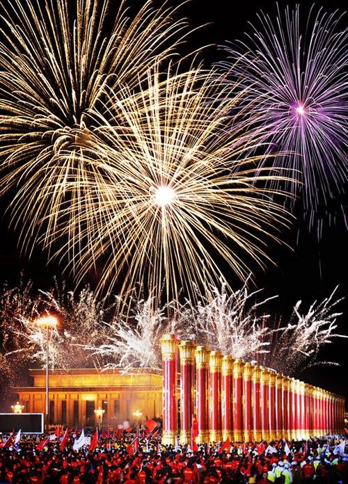 Chinese New Year Fireworks in Beijing http://learningchinesespeak.com