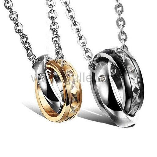 17 best images about couples necklaces set for 2 on for Couples matching jewelry sets