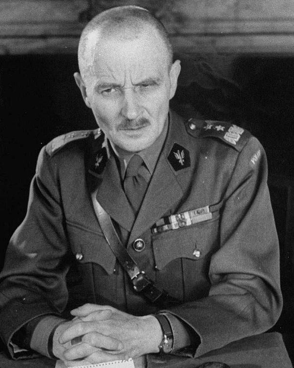 Allied leaders - Marian Włodzimierz Kukiel (15 May 1885 – 15 August 1972) was a Polish major general, historian, social and political activist. From 1940 until 1942 General Officer Commanding the 1st Polish Corps based in Coatbridge Scotland, and since 1943 Minister of War of the Government in Exile.