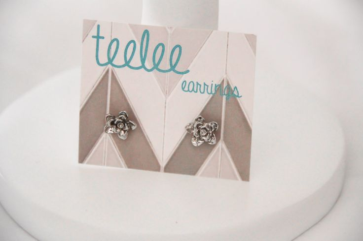 Silver Flower Earrings - Teelee - A Bits & Bobs Brand