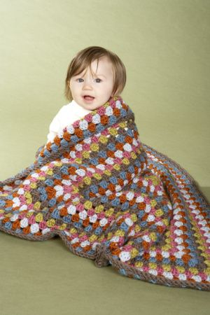 Image of Crochet Baby Granny Square Afghan