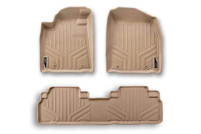 2012 Cadillac SRX Floor Mats | 2010 2012 Cadillac SRX AWD rwd Maxfloormat Floor Mats Tan 1st and 2nd ...