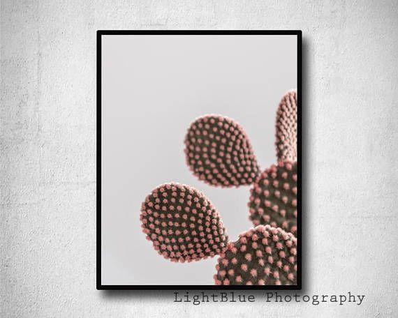 Blush Pink Print Cactus Print Dusty Pink Printable Botanical