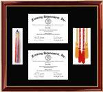 Certificate Frames Lithograph Diploma Frame Award Graduation Gifts Medallion Custom Framing College University Honors Degree Graduate Gift S...