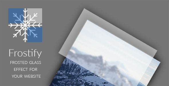 Frostify - Frosted Glass Effect for your Website . Frostify is a small, but customizable plugin that allows you to add a frosted glass effect to your