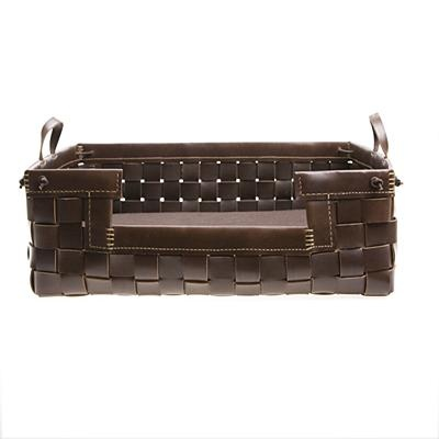 hand woven leather dog bed. gorgeous.