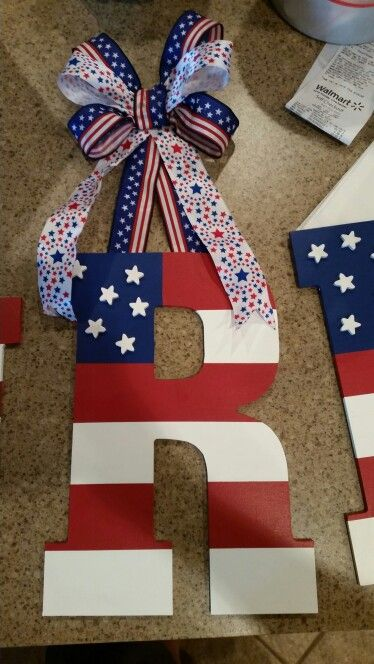 Forth of July door letter