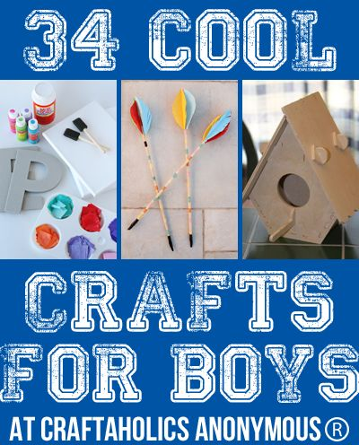 Looking for crafting ideas for boys? Here is a list full of great ideas!