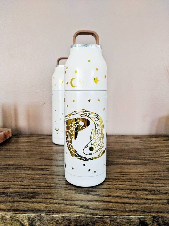Celestial Insulated Water Bottle Tui And La Moon And Sun Insulated Water Bottle Water Bottle Insulated Stainless Steel Water Bottle