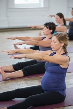 Mama Seeds workout videos for expecting and new moms. Love that it features real women and not size -12 models