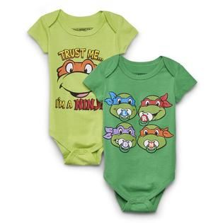 Nickelodeon- -Teenage Mutant Ninja Turtles Newborn Boy's 2-Pack Bodysuits kmart