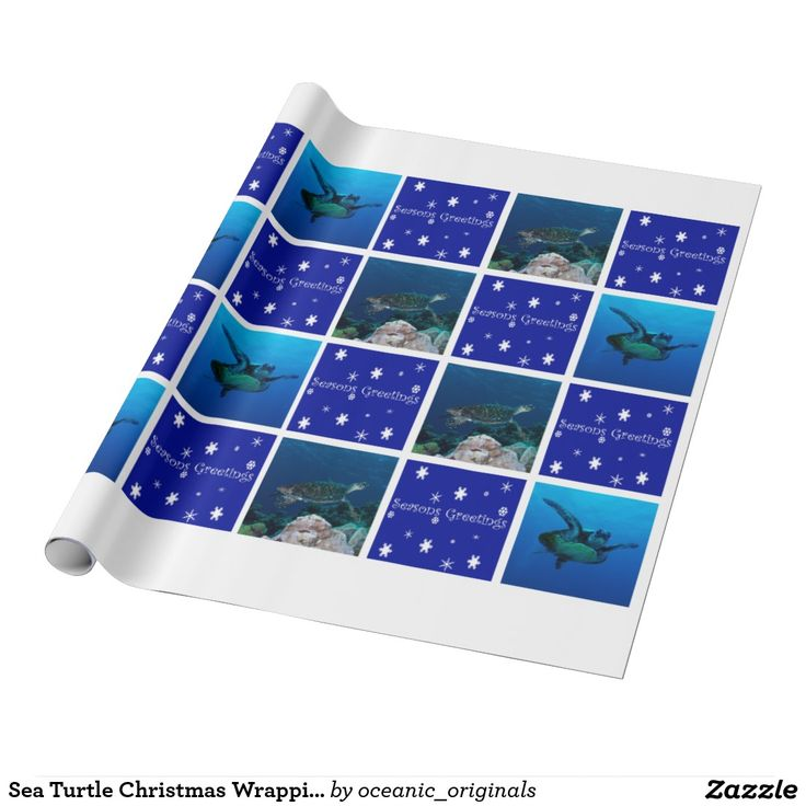 Sea Turtle Christmas Wrapping Paper