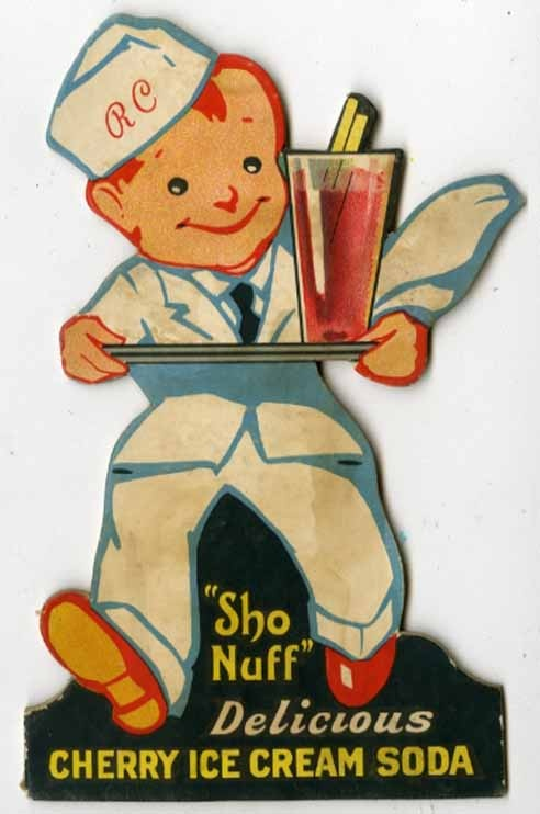 vintage cherry ice cream soda sign