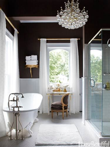 Lighting - A Romantic Bathroom with Old-School Glamour