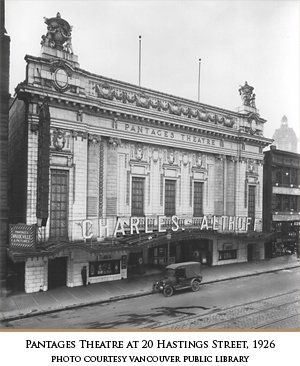 Pantages Theatre on Hastings, 1926