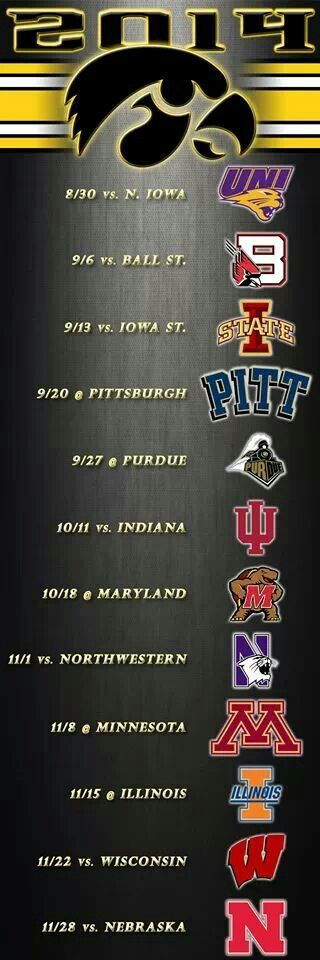 Can't wait for this weekend and to kickoff the Iowa football season!!! GO HAWKS