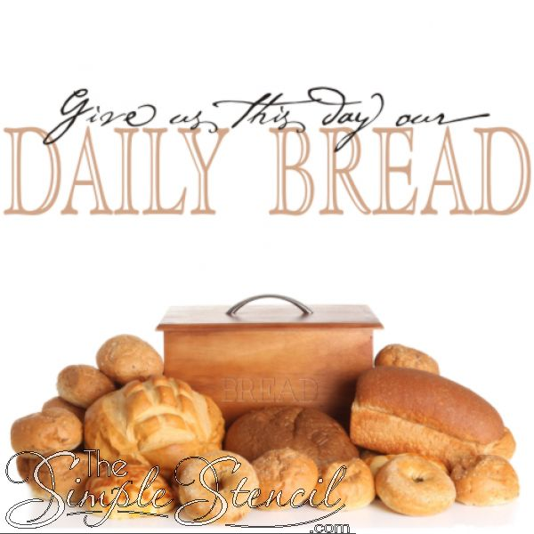 give us this day our daily bread a favorite vinyl wall quote for the fall holidays a beautiful wall decoration that can be used in kitchen