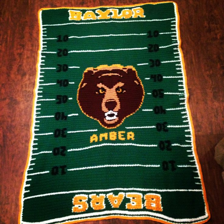 My Mom made this blanket for me! She is so talented! #Baylor #SicEm