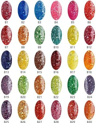Bluesky glitter gel polish. Love any colors (except greens and yellows), esp purples, reds, pinks, corals, browns