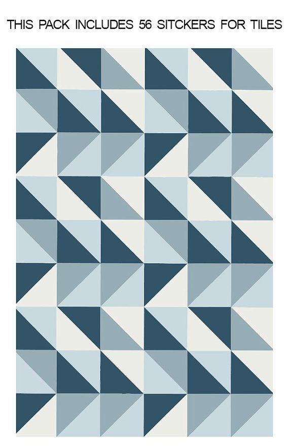 Tile Stickers Refresh Blue Tile Sticker Tile Decal For Kitchen Backsplash Tile Decals For Bathroom Pack Of 56 Sku Refreshtiles