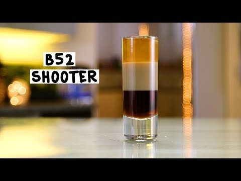 B-52 SHOOTER 1 Part Coffee Liqueur 1 Part Irish Cream 1 Part Grand Marnier PREPARATION 1. Pour coffee liqueur into base of tall shot glass and gently layer irish cream on top. 2. Finish with a layer of grand marnier. DRINK RESPONSIBLY!