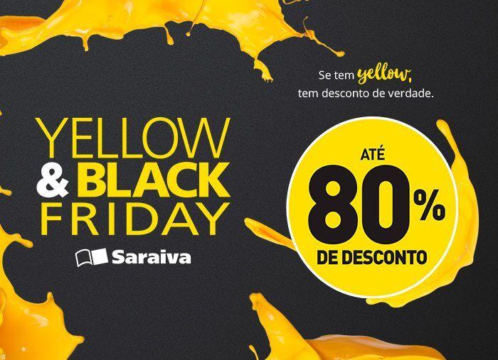 Saraiva oferece até 80% de desconto em smartphones, livros e PCs na Yellow & Black Friday