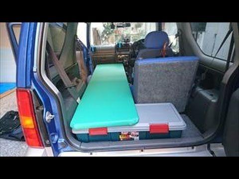 ジムニー車中泊ベッド・カーサイドタープ自作からお試しまで - YouTube