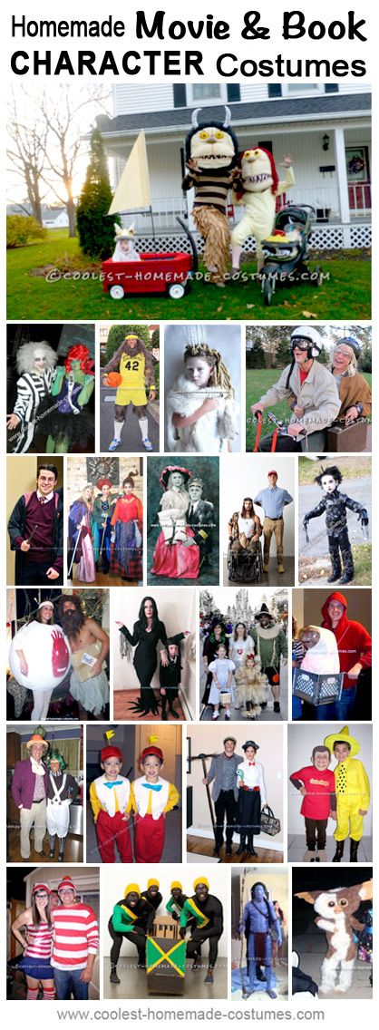 Homemade Book and Movie Character Costumes Collection