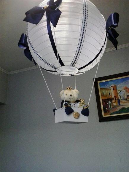 luminária balão bebe em organza e decorada com fitas de cetim, caixinha em mdf e ursinho de pelucia... 7 dias uteis para confecção