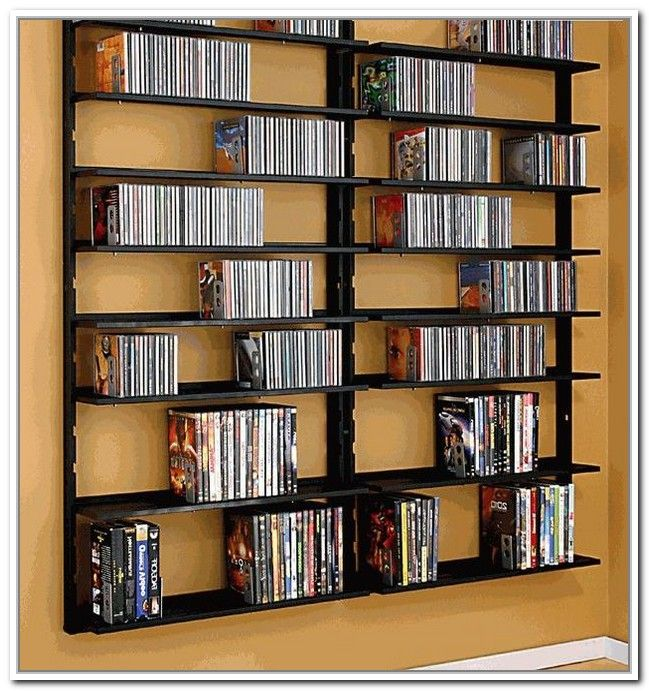 Wall Mounted Dvd Storage Shelves Ideas For The House Pinterest And Cd