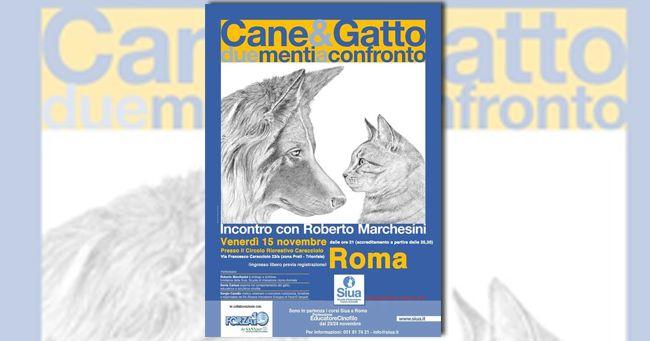 Cane&Gatto due menti a confronto con l'etologo Roberto Marchesini