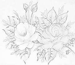Resultado de imagem para pintura em tecido barrado de rosas molde