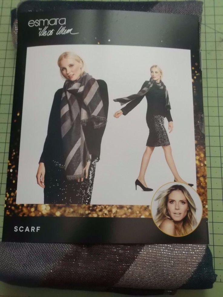 Brand New Ladies Heidi Klum For Esmara @ Lidl Luxury Metallic Stripe Scarf Gift