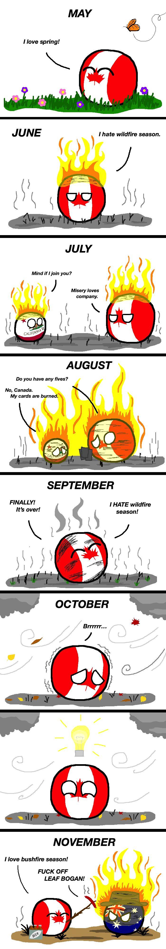Fire Seasons polandball Country memes, Canada funny