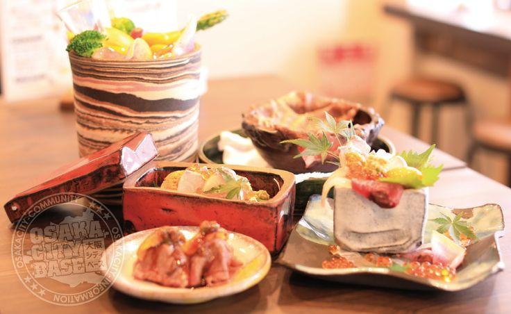 【天満・扇町-グルメ】料理と器、味と盛り付けで人々を魅了する大阪で話題の海鮮料理店!裏天満ちょうちん通り「裏天満こばち屋」さん