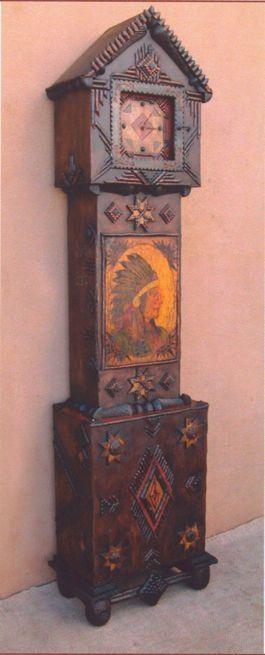 Tramp Art Case Clock