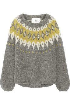 DAY Birger et Mikkelsen Embellished mohair-blend sweater   NET-A-PORTER