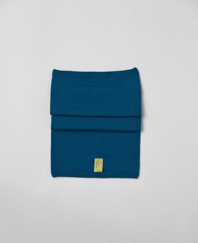Findra merino blue wool snood from The Cycling Store