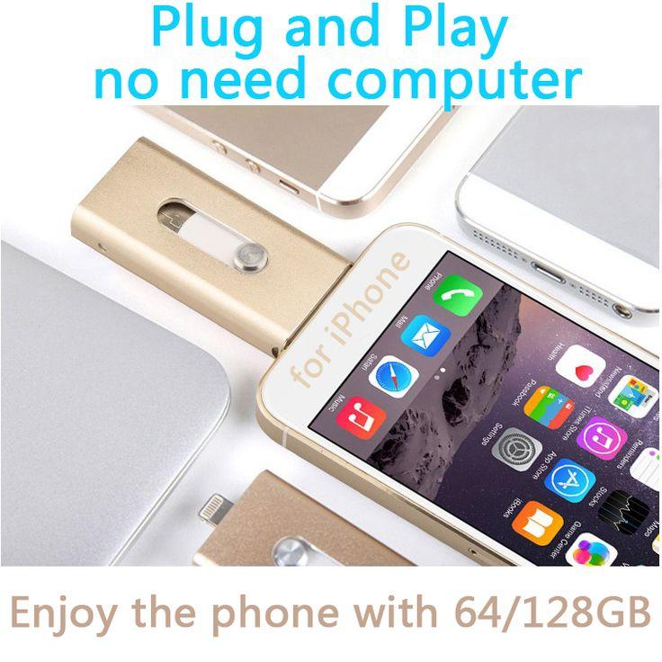NEW Design OTG USB Flash Drive 512GB For IPhone IPad, OTG 16GB 32GB 64GB 128GB Pendrive 512 GB Good Quality Memory Stick Gift