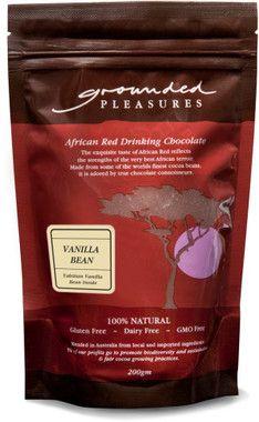 Grounded Pleasures Tahitian Vanilla Bean Drinking Chocolate 200gm