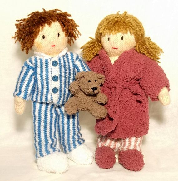 Time For Bed Jesse  and Josie dolls by ClaireFairallDesigns