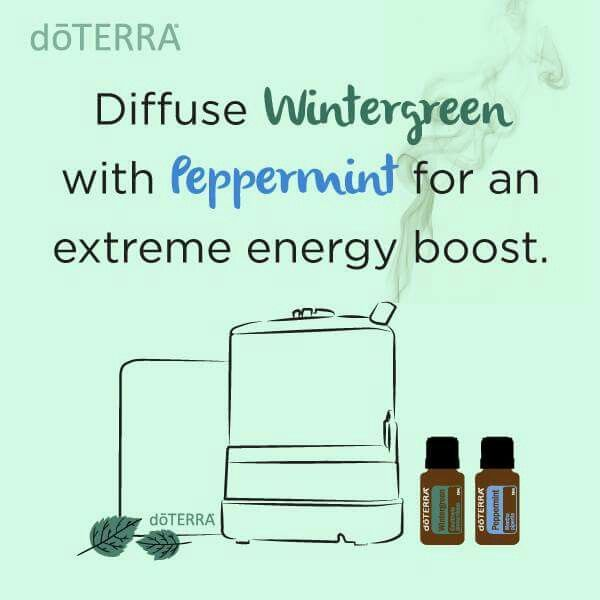 Extreme energy boost from wintergreen and peppermint essential oils