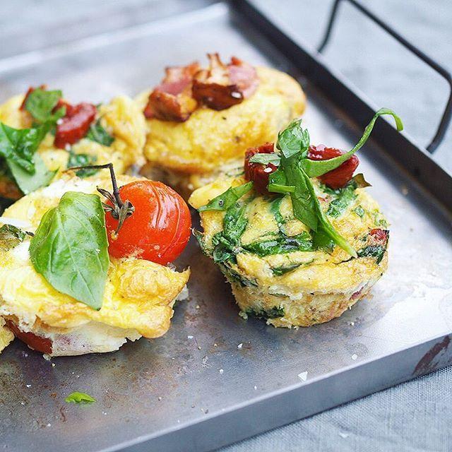 Fick fråga om vad man kan ha med sig i picknick-väskan: Dessa Matiga äggmuffins med 3 olika fyllningar Direktlänk till recept i min profil