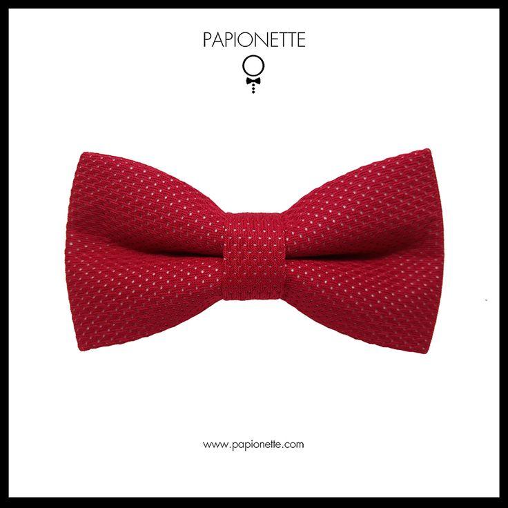 Papion rosu casual - Papionette