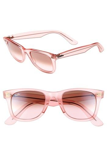 Ray-Ban 'Ice Pop Icon - Wayfarer' 50mm Sunglasses Watermelon One Size