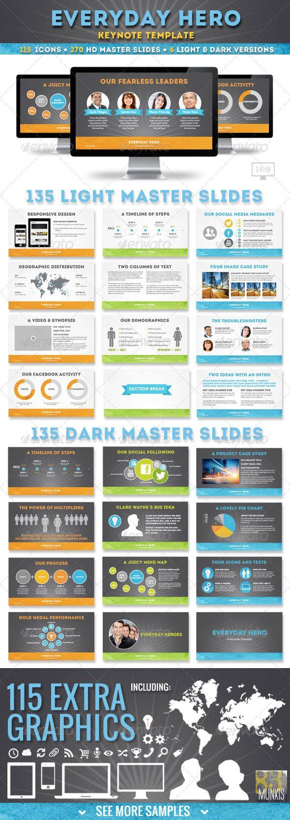 21 best keynote design is images on pinterest keynote design everyday hero keynote presentation template toneelgroepblik Choice Image