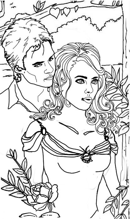 Couple Coloring Pages Vampire Diaries Colouring Pages