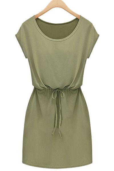 simple summer khaki t-shirt dress ///